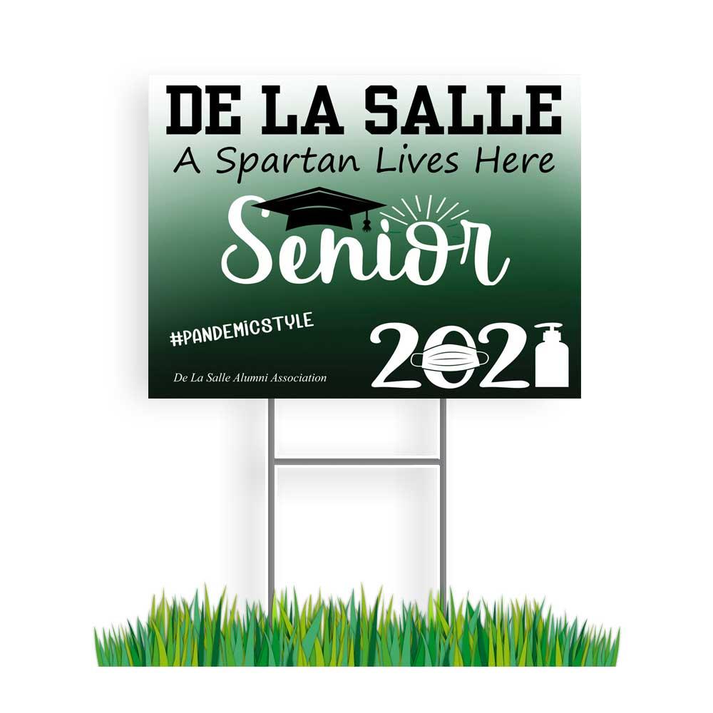 De La Salle Grad sign
